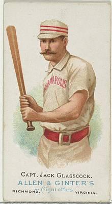 Baseball Cards Drawing - Captain Jack Glasscock, Baseball by Allen & Ginter