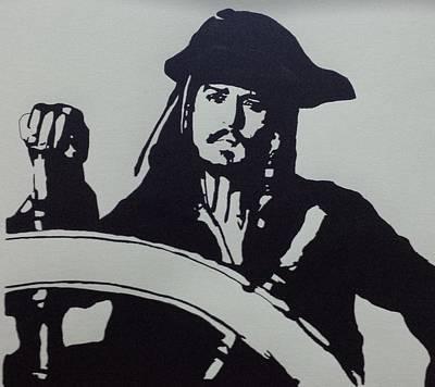 Captain Jack Sparrow Painting - Captain Jack Sparrow by Atz