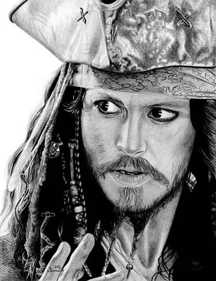 Captain Jack Sparrow Art Print by Kayleigh Semeniuk