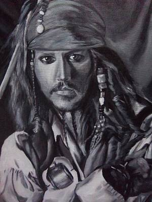 Pirates Of The Caribbean Painting - Captain Jack Sparrow by Lori Keilwitz