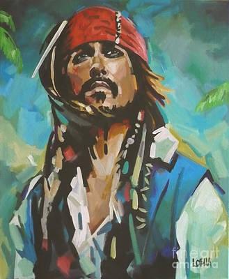 Captain Jack Sparrow Painting - Captain Jack Sparrow by Lorna Stephens