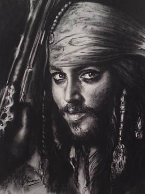 Captain Jack Sparrow Painting - Captain Jack Sparrow by Louise Brown
