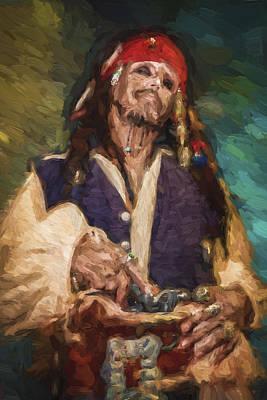 Captain Jack Sparrow Print by Vivian Frerichs