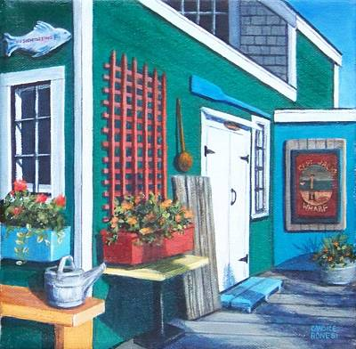 P Town Painting - Captain Jack's Wharf by Candice Ronesi