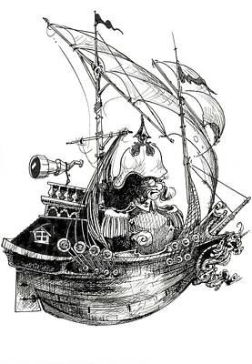 Drawing - Sail by Zorro Lopez