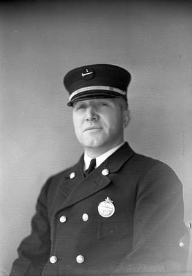 Fire Department Photograph - Captain Kinch Of The Century Of Progress Fire Department Chicago  by Retro Images Archive