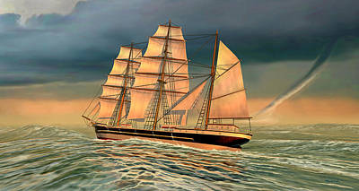 Digital Art - Captain Larry Paine Clippership 2 by Duane McCullough