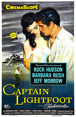 1955 Movies Photograph - Captain Lightfoot, Us Poster, Barbara by Everett