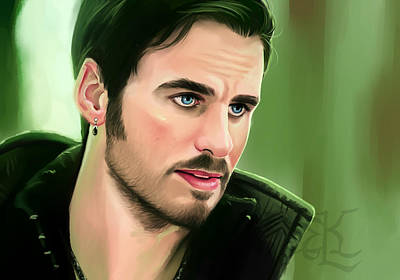 Captain Hook Painting - Captain by Lydia Kinsey