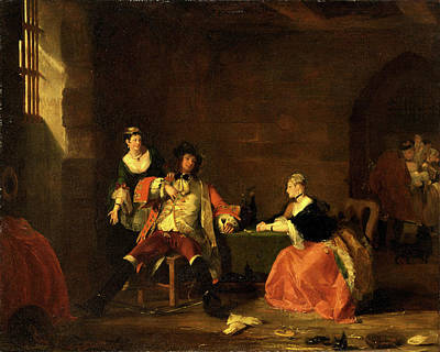 Newton Painting - Captain Macheath Upbraided By Polly And Lucy In The Beggars by Litz Collection
