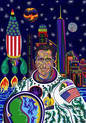 Barrack Obama Painting - Captain Mitt Romney - American Dream Warrior by Robert SORENSEN