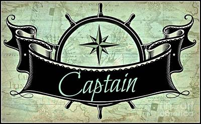 Digital Art - Captain Nautical  by Mindy Bench