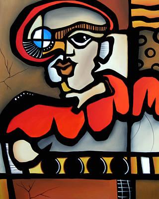 Dog Abstract Art Painting - Captain Nemo by Tom Fedro - Fidostudio