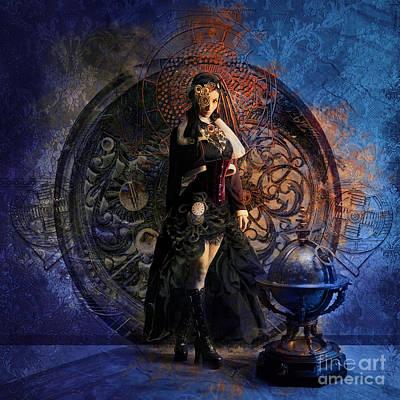 Nautical Digital Art - Captain Persephone II by Aimee Stewart