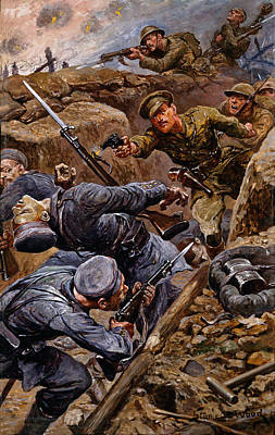 Wwi Painting - Captain Reginald James Young Winning by Stanley L. Wood