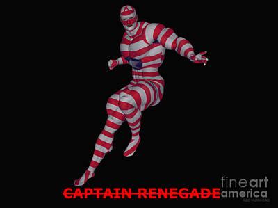 Mixed Media - Captain Renegade by R Muirhead Art