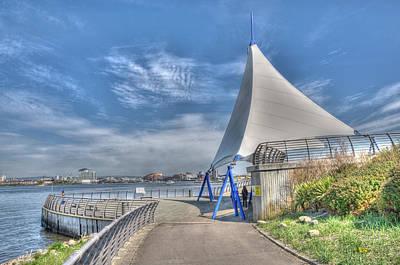 Captain Scott Exhibition Sails Art Print by Steve Purnell