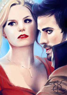 Captain Hook Painting - Captain Swan by Lydia Kinsey