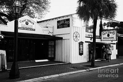 Captain Tonys Saloon Site Of The Original Sloppy Joes Bar Frequented By Ernest Hemingway Key West Fl Art Print by Joe Fox