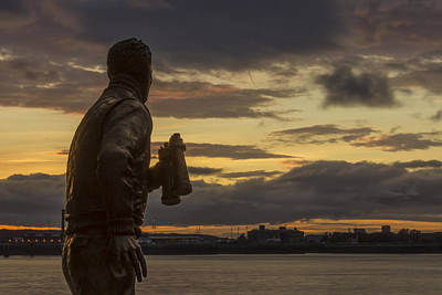 Liverpool Photograph - Captain Walker At The Liverpool Pier Head by Paul Madden