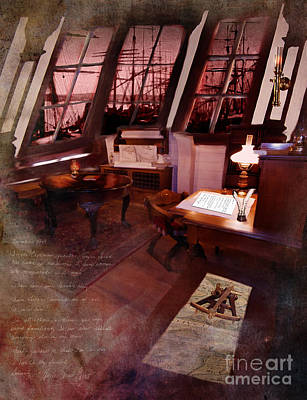 Digital Art - Captain's Cabin On The Dicey by Lisa Redfern