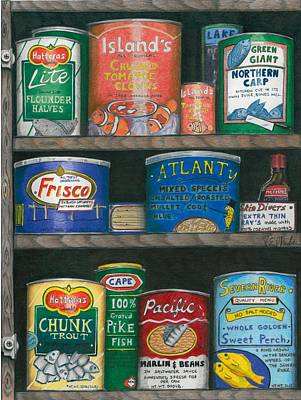 Tomatos Drawing - Captains Cupboard by Karen Rhodes