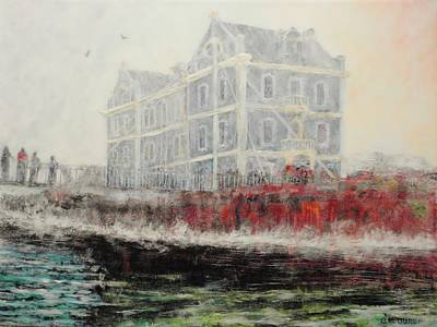 Captains Manor In The Fog Art Print