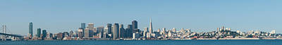 Bay Bridge Photograph - Captioncity At The Waterfront, San by Panoramic Images