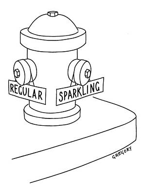 Fire Hydrants Drawing - Captionless: Fire Hydrant With Regular Or by Alex Gregory