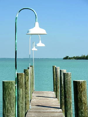 Captiva Island Pier Two Art Print by Richard Mansfield