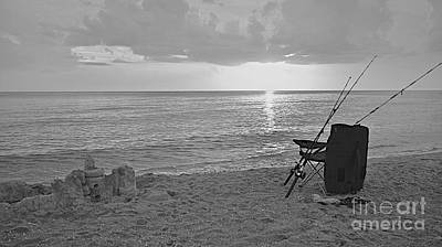 Photograph - Captiva Sunset Black And White by Carol  Bradley