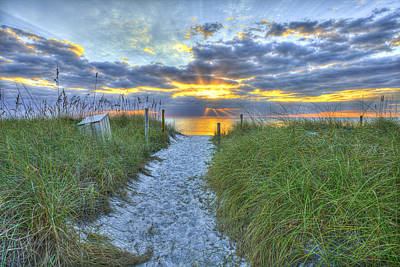 Captiva Sunset Art Print by Sean Allen