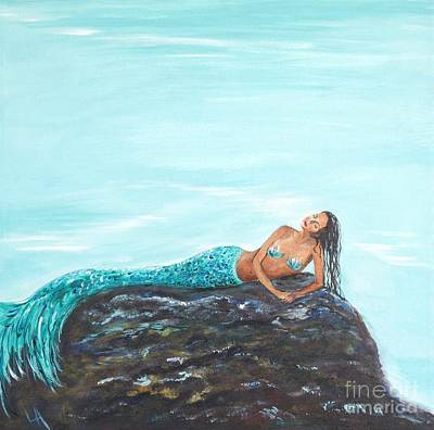 Painting - Captivating Mermaid by Leslie Allen