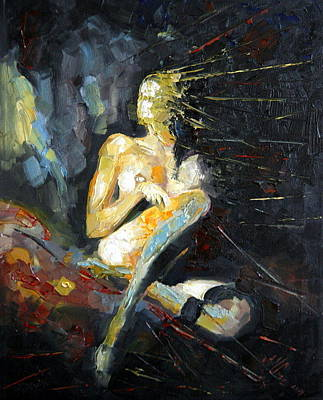 Nud Painting - Captive by Magda Urse