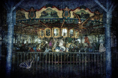 Santa Monica Digital Art - Captive On The Carousel Of Time by Belinda Greb