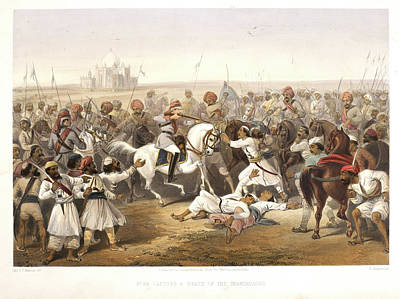 Capture And Death Of The Shahzadaghs Art Print by British Library