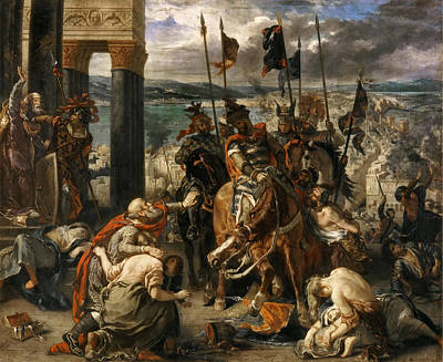 Crusader Painting - Capture Of Constantinople By The Crusaders by Celestial Images