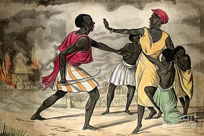 Capture Of Slaves By African Slave Art Print