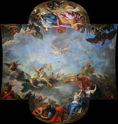 Citadel Painting - Capture Of The City And Citadel Of Gand In Six Days by Charles Le Brun