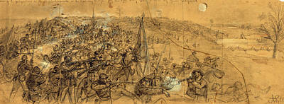 Civil Rights Drawing - Capture Of The Fortifications On The Rappahannock by Quint Lox