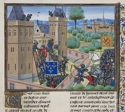 Capture Of Wark Castle Art Print by British Library