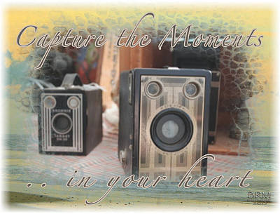 Caption Digital Art - Capture The Moments by Barbara MacPhail