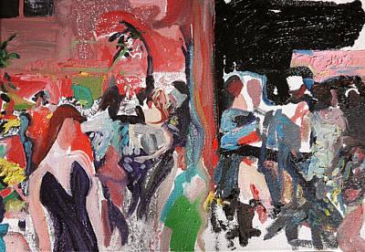 Wailuku Painting - Capturing The Party by Joseph Demaree