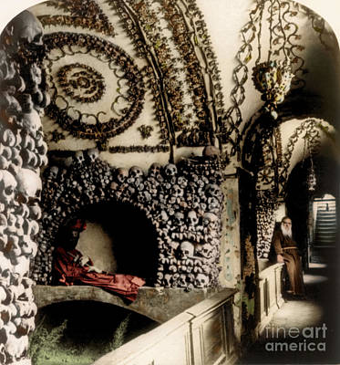 Capuchin Catacombs 1897 Art Print by Science Source