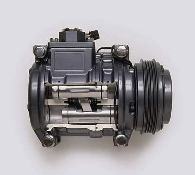 Car Air Conditioning Pump Art Print
