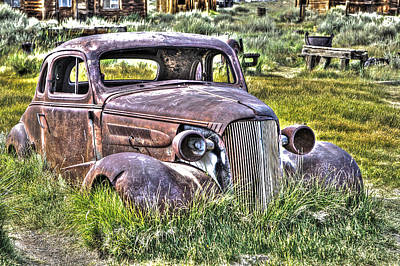 Photograph - Car At Bodie by SC Heffner
