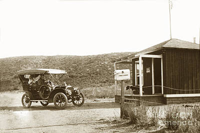 Photograph - Car At The Mexico California United States Border Crossings  1906 by California Views Mr Pat Hathaway Archives