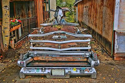 Photograph - Car Chrome Bench by Allen Beatty