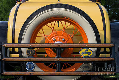 Photograph - Car - Classic - Yellow 1931 Ford Rear  by Liane Wright