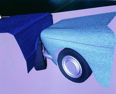 Car Crash Reconstruction Art Print by Mauro Fermariello/science Photo Library